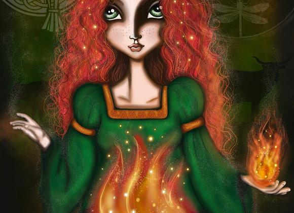 Brigid - Irish Goddess of Fertility, Poetry and the Dawn.