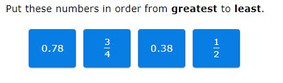 order fractions and decimals