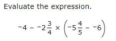 evaluate expressions with fractions