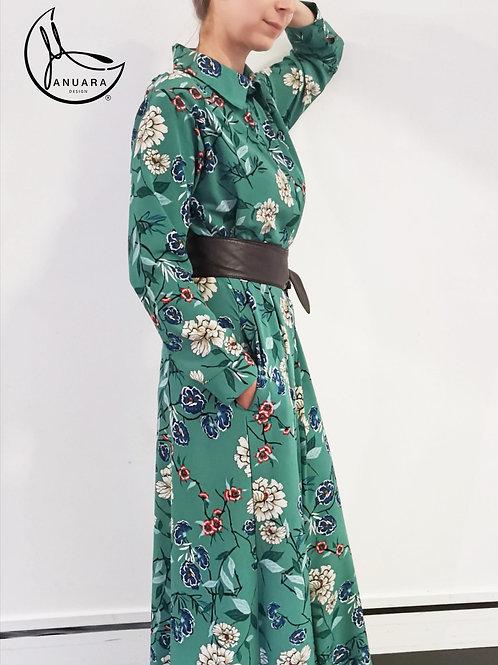 Anna Fern Kimono Shirt Dress