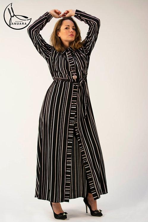 Pencil Striped Shirt Dress