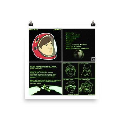 Curiosity photo paper poster