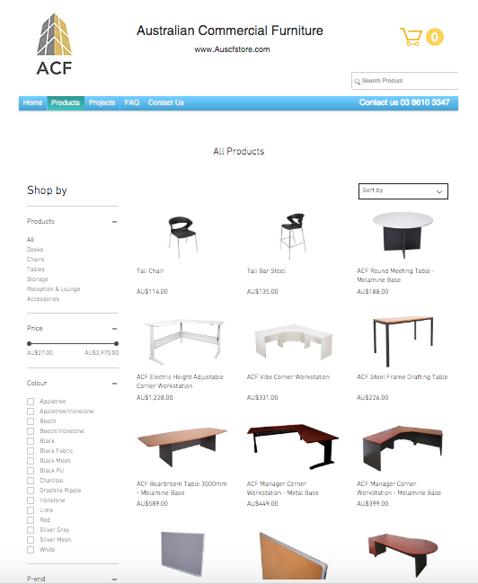 ACF Online Store is LIVE!