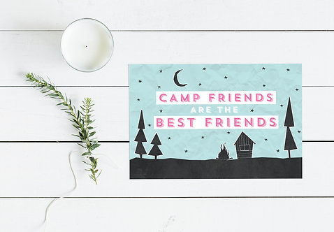 Camp Friends are the Best Friends Postcard
