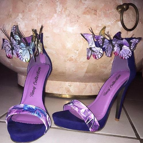 Purple Kisses Custom heel