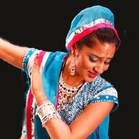 Parul performing Indian dance.