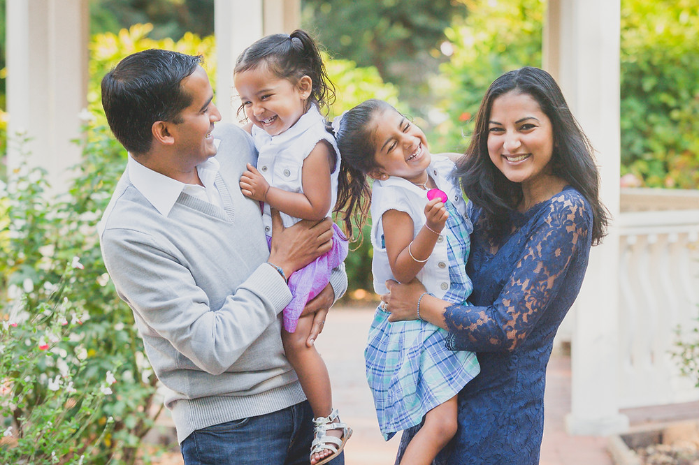 Parul with her husband and kids.
