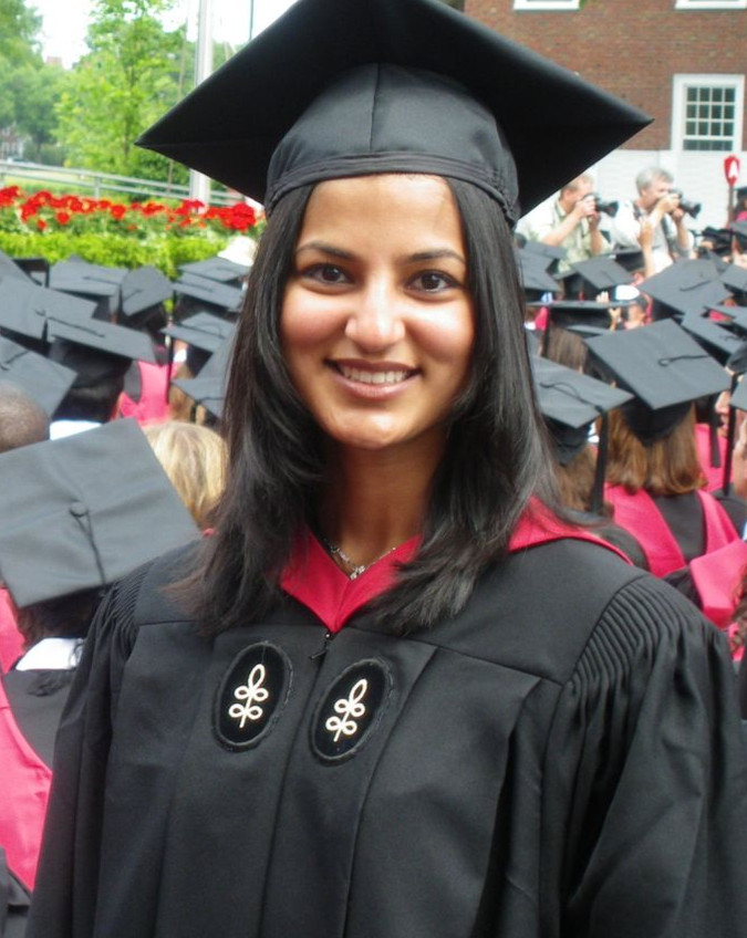 Parul at her HBS graduation.