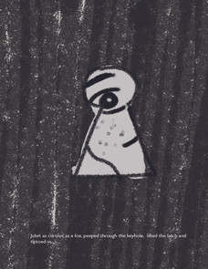 Is anyone there? (Black and white development for a picture book)