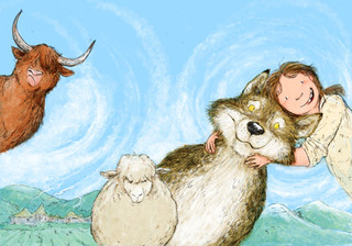 Illustration for an upcoming book: Spoony Tooth, the Hairy Lummox and the Big Galloot by Dave Rice