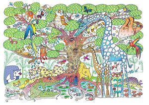 Beccy Blake - Giraffe in the jungle.jpg