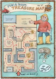 Children's activity map for Lowestoft Maritime Museum