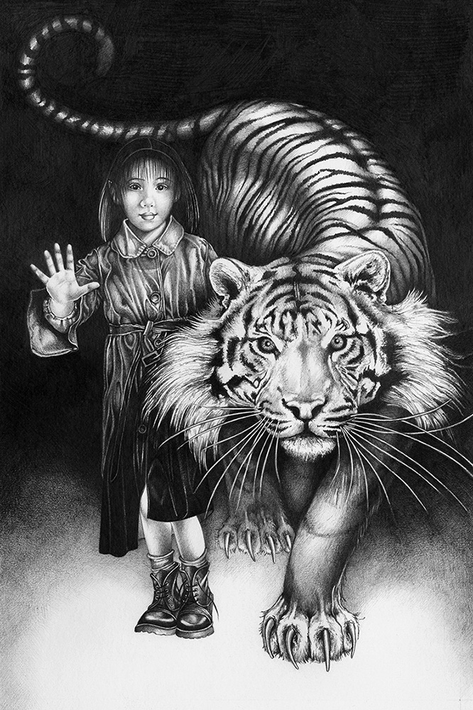 Fae Girl with Tiger - Orfeia