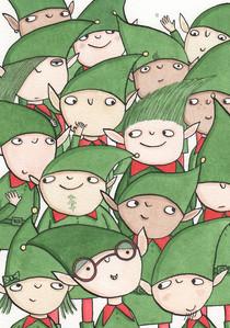 A Christmas card design