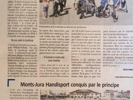 Journée d'essai de nos produits avec Mont Jura Handisport