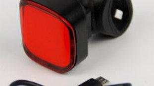 ÉCLAIRAGE LED RECHARGEABLE 1 FEU ROUGE ARRIÈRE + CABLE USB