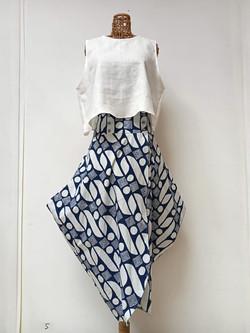 Hand Drawn Batik Long Skirt