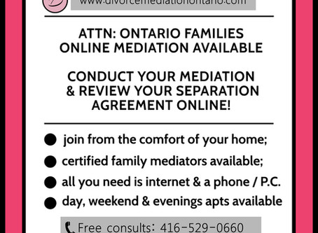 Family Mediation - Online Services Available!