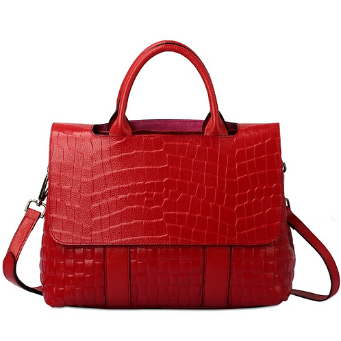 Tiffany Anisette Candy Apple Red Leather Tote