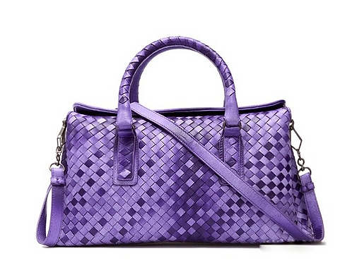 Tiffany Anisette Dianna Purple Sheepskin Tote