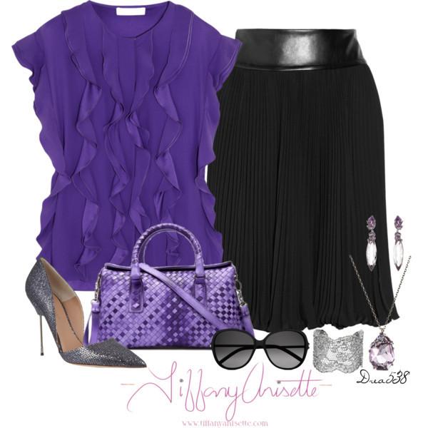 Tiffany Anisette Dianna Purple Sheepskin Tote