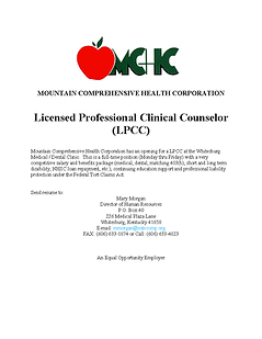 Licensed Professional Clinical Counselor