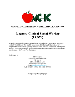 Licensed Clinical Social Worker ad (10-2