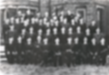 Brigade President Lord Maclay attending the Service of Dedication of BB House on the 18th April 1953, with the Officers of the Battalion