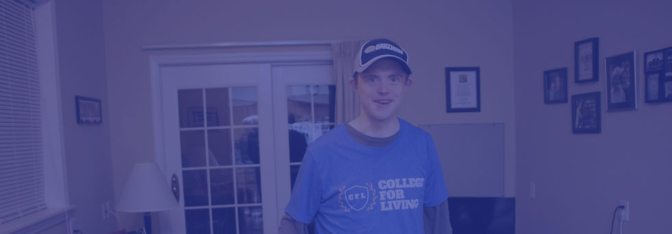 Daniel in his apartment