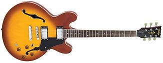 Vintage VSA500HB Semi Acoustique Guitare Music in Medoc Instruments de musique Bordeaux St Medard en Jalles Magasin Guitare bordeaux batterie bordeaux clavier bordeaux instruments de musique d'occasion