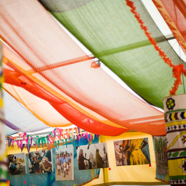 Saris and photo exhibition