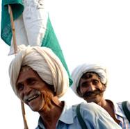 Men walking and laughing