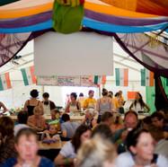 Inside the Madras Cafe tent