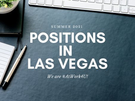 Positions Waiting for you This Summer!