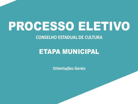 Processo Eletivo do Conselho Estadual de Cultura