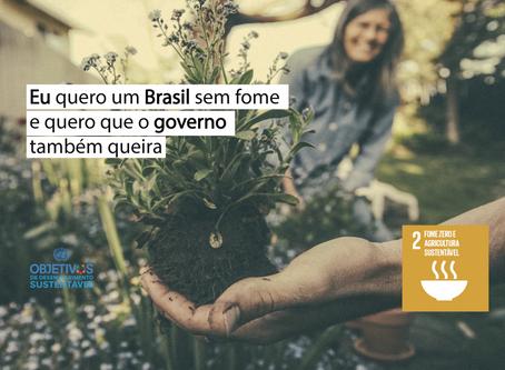 Eu quero um Brasil sem fome e quero que o governo também queira