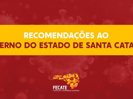 Recomendações ao Governo de Santa Catarina