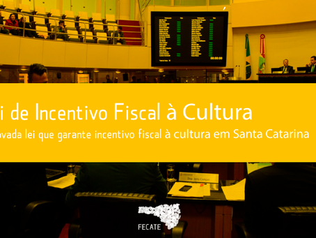 Lei estadual de incestivo fiscal à cultura