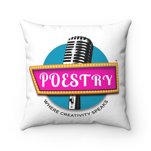 Poestry Square Pillow