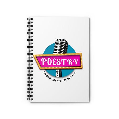 Poestry Spiral Notebook - Ruled Line