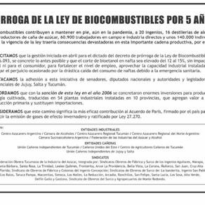 (Solicitada) Industriales emitieron una solicitada en el diario La Nación.