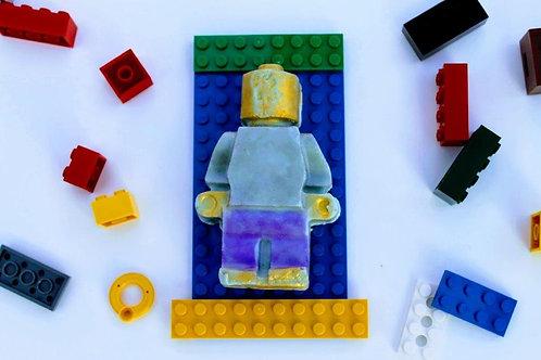 Lego man goats milk soap