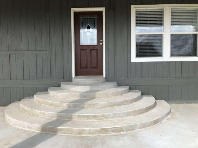 Custom Concrete Entrance