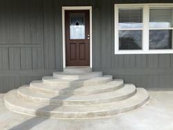 Custom Concrete Entrance