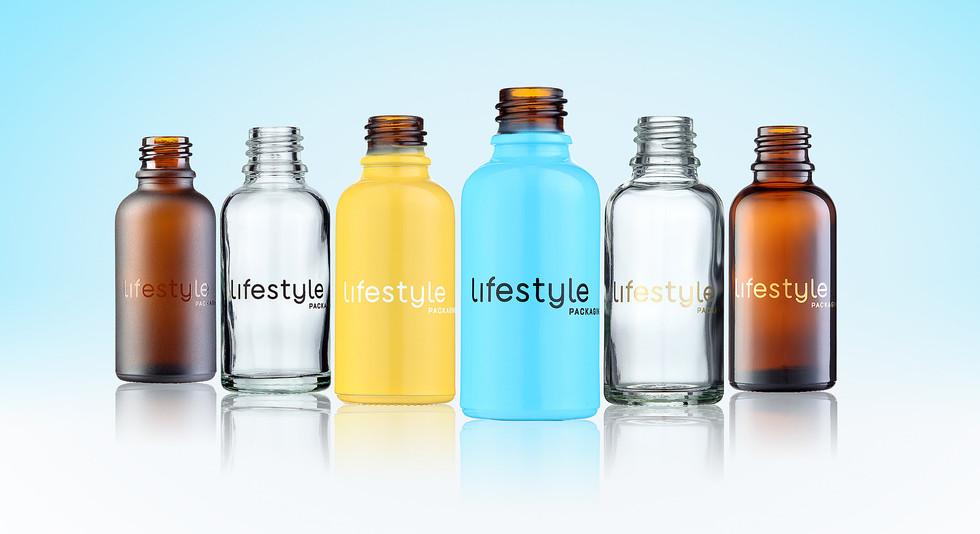 Coloured Spray Glass Bottles