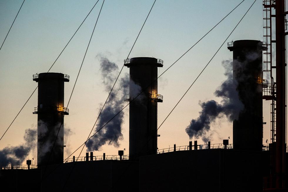 Chimney Stacks at dusk