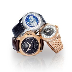 Cluster of Luxury Watches on a white background