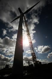 windfarm installation - East Yorkshire