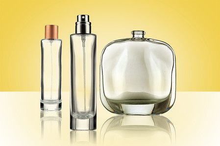 Fragrance Clear glass bottles