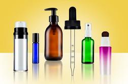 Atomiser, Plastic and Glass Bottle arrangement